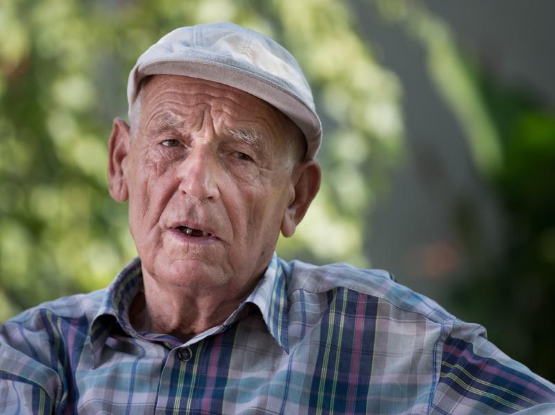 Portrait of old depressed man in garden. Concept of mental problems. ©Flotilla, Budimir Jevic