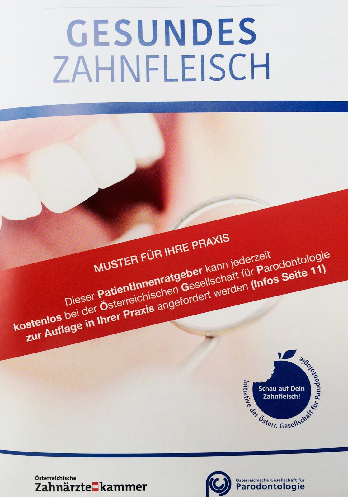 Broschüre Gesundes Zahnfleisch